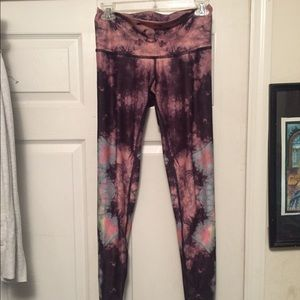 TEEKI High Waist Tie Dye Yoga Tights/ Pants SMALL